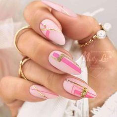 Glam Nails, Fancy Nails, Love Nails, Pink Nails, Fabulous Nails, Gorgeous Nails, Pretty Nails, Geometric Nail Art, Nail Tattoo
