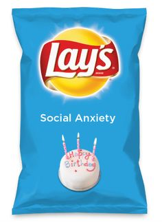 Wouldn't Social Anxiety be yummy as a chip? I made my own flavor. It's got a hit of sweat with a dash of nausea. Lay's Do Us A Flavor is back. Funny Food Memes, Stupid Funny Memes, Food Humor, Funny Relatable Memes, Hilarious, Funny Stuff, Lays Chips Flavors, Pop Tart Flavors, Oreo Flavors