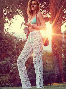 2016 - Crochet  amp  Boho Bikinis - Victoria s Secret - macrame cover-up  pant a456577d5ae