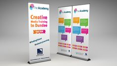 the-academy-creative-media-training-banner Roller Banners, Locker Storage, Training, Creative, Design, Work Outs, Excercise, Onderwijs