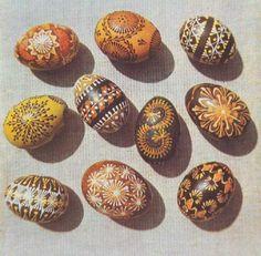 kiausiniai  Easter eggs - margučiai - comprise a special type of Lithuanian folk art.