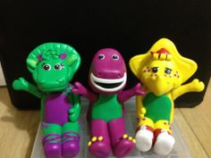 Barney and friends cake toppers Barney Party, Barney & Friends, Friends Cake, Wedding Cake Toppers, Beautiful Cakes, 2nd Birthday, Cake Ideas, Birthdays, Christmas Ornaments