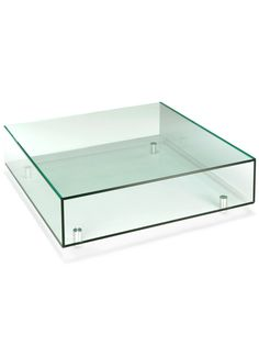 This high quality contemporary 'classic glass coffee table' provides an ideal focal point for any living space. This glass coffee table is not only stylish but highly functional as well