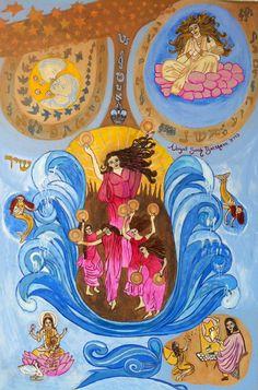 Miriam - sing women sing, and dance by Abigail Sarah Bagraim Frame Drum, Woman Singing, Jewish Art, Heroines, Dancers, Mystic, Gypsy, Illustration Art, Objects