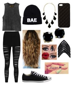 """""""Andrea Russett inspired #3"""" by mfgsoccer ❤ liked on Polyvore featuring RVCA, Boohoo, Domo Beads, Converse, Kendra Scott, B. Brilliant, The Case Factory, Lynn Ban, women's clothing and women's fashion"""