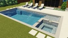 A Review of Fiberglass Pool and Spa Combos: Sizes, Designs, Pros, Cons