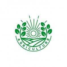 Logo Agriculture, Agriculture Companies, Agriculture Tractor, Logo Biologique, Landscaping Logo, Free Logo Templates, Circular Logo, Farm Logo, Organic Logo