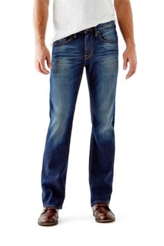 Guess men's regular bootcut jeans in riverfront wash