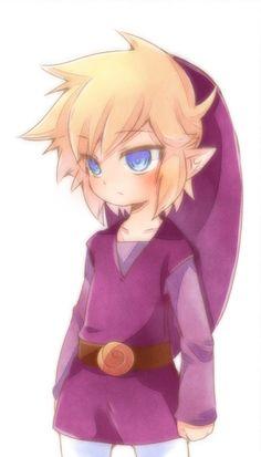 Purple Link Zelda Four Swords<<< VIO LINK VIO VIO VIO! Violet/Purple JANAI!!