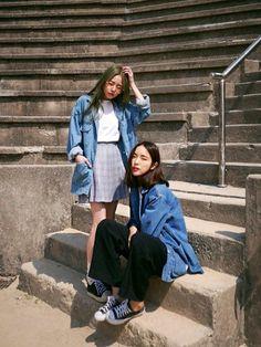 Korean Fashion – How to Dress up Korean Style – Designer Fashion Tips Asian Street Style, Korean Street Fashion, Korea Fashion, Asian Style, Asian Fashion, Look Fashion, Girl Fashion, Fashion Outfits, Womens Fashion