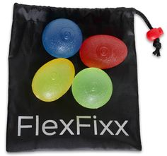 FlexFixx HAND EXERCISER Therapy Set - Best For Arthritis, Carpal Tunnel, Stroke Rehab, Stress Relief - 4 Squeeze Balls for Grip, Wrist, Finger, Hand Strength - User Guide with Strengthening Exercises. TWO SHAPES ARE BETTER THAN 1. You get both egg and round shaped balls so you will be able to do the most extensive types of grip exercises. GAIN DEXTERITY AND STRENGTH. Set includes extra soft, soft, medium and firm densities for all levels of users and also gives you progressive goals as…