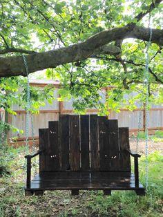 #Garden, #PalletBench, #PalletSwing, #RecyclingWoodPallets