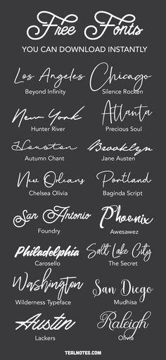 Free Handwritten Script Fonts, Chalkboard Fonts Free, A Font, Calligraphy Fonts Free, Free Brush Script Font, Logo Fonts Free, Best Script Fonts, Hand Fonts, Script Words