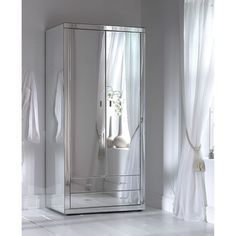 Here we have a stunning mirrored wardrobe from our Romano mirrored bedroom furniture range. A hand crafted Venetian glass mirrored wardrobe Mirrored Bedroom Furniture, Rustic Furniture, Furniture Design, Bedroom Decor, Furniture Ideas, Metallic Furniture, Chest Furniture, Furniture Removal, Furniture Movers