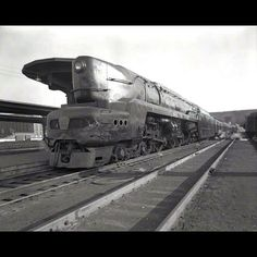 Timeline Tuesday 5/08/2012: One of the Pennsylvania Railroad's experimental T1 steam locomotives passed through Union Terminal at least twice. Tested from 1946 to 1952, the 50 locomotives built proved difficult to operate effectively, despite their ability to run at speeds of 100 mph or more. Photo credit: Cincinnati Museum Center Photograph Collections #CincyMuseum #TimelineTuesday #train #trainstation #UnionTerminal #Cincinnati #locomotive
