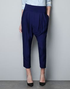 HAREM PANTS - Trousers - Woman - ZARA Canada - Great as an office wear and still stay on trend.