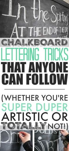Anyone can learn to do beautiful chalkboard lettering! Follow these simple steps and you'll see it's easier than you think!