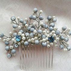 Blue wedding comb