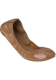 Tory Burch - Eddie Ballet Flat Royal Tan Patent...cute, neutral ballet flat.