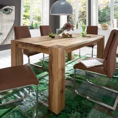Nice Tisch aus Balkeneiche ausziehbar holztisch massivholztisch k chentisch esszimmertisch holztisch massiv echtholztisch