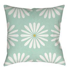 Jar of Sunshine Vintage Daisy Indoor/Outdoor Throw Pillow