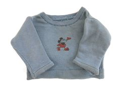Rare 1930's era  Mickey Mouse Sweatshirt Infant or Doll Sized Disney Collectible by bigbangzero on Etsy