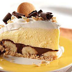 Peanut Butter-Chocolate Banana Cream Pie Recipe - http://www.pindandy.com/pin/2543/