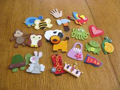 The Children Sing: Music Aid - Singing Shapes. Each shape is associated with a way to sing the songs. Kids could choose them out of an apron or box or pocket.