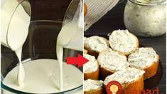 Zmiešajte kefír s kyslou smotanou a vznikne takáto vynikajúca syrová nátierka: Nebudete sa jej vedieť dojesť! Kefir, Dairy, Cheese, Food, Facebook, Ideas, Meal, Essen, Hoods