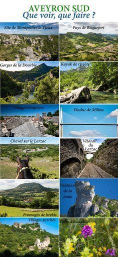 Que faire et que voir dans le sud de l'Aveyron ? Itinéraires, activités, points de vue, incontournables autour de Millau, Roquefort, sur le Larzac. Cheap Travel, Us Travel, Us Destinations, Picture Postcards, Ultimate Travel, France Travel, Kayaking, Travel Inspiration, Points