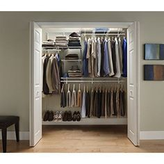 Bedroom best closet systems do yourself diy modular closet systems adjustable closet storage kit 5 to 8 wall mount organizer sturdy metal white solutioingenieria Gallery