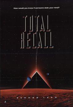 "Total Recall 1990 Authentic 27"" x 40"" Original Movie Poster Fine, Very Fine Arnold Schwarzenegger Thriller U.S. One Sheet Advance"