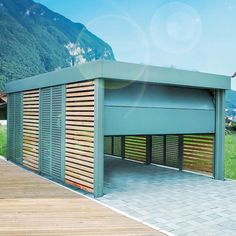 carport aus metall in ral 7016 mit douglasie rhombus wandelementen metall carport pinterest. Black Bedroom Furniture Sets. Home Design Ideas