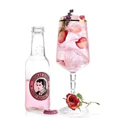 Pink, Pinker, Pinker Spritzer – with Thomas Henry Cherry Blossom Tonic – Cocktail Tea Cocktails, Bourbon Cocktails, Mousse, Happy Drink, Thirsty Thursday, Vegetable Drinks, Non Alcoholic Drinks, Beverages, Gin And Tonic