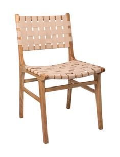 Chair with woven leather natural * Cécile and Boyd Outdoor Chairs, Dining Chairs, Outdoor Furniture, Outdoor Decor, Desk Chairs, Interior Design Studio, Leather, Home Decor, City