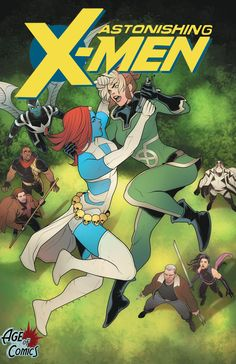 Astonishing X-Men #1 (2017) Age of Comics Exclusive Variant Cover by Elizabeth Torque