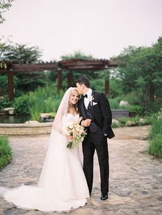 French Countryside-Inspired Chicago Wedding, Bride and Groom Portraits | Brides.com