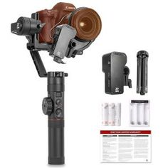 Pro Video Stabilizing Handle Grip for Olympus Stylus SP-100 Vertical Shoe Mount Stabilizer Handle