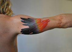 Geometric tattoo | Marcin Aleksander Surowiec | colour | arm