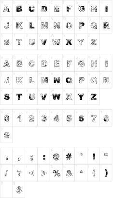 Adieresis, Odieresis & Aring font character map