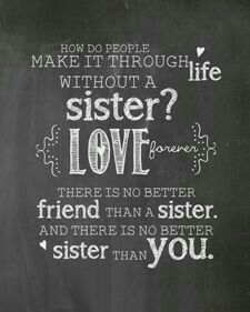 Sisters Chalkboard Print - love you Trish! Best Sister Ever, Best Friends Sister, Love My Sister, Best Friends For Life, Sister Quotes, Me Quotes, Funny Quotes, Friend Quotes, True Words