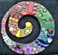 Rainbow Koru - being donated as first prize for a raffle to raise funds for the NZ Breast Cancer Pink Ribbon Appeal being held on 14th & 15th October 2016