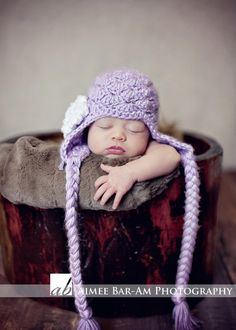 Shabby Chic Vintage Earflap Hat for Baby Girls fa91ce0dbc20
