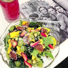 Instagram media by lonijane - Lunch date with Vogue. 'Fruity choc salad'
