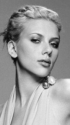 Scarlett Johansson, monochrome, 2018, 720x1280 wallpaper