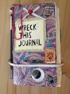 Wreck this journal cover finished!!