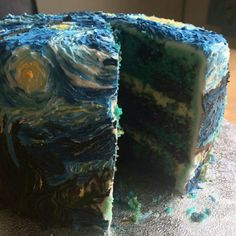 Starry Night..Van Gogh cake