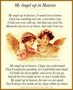 happy new year in heaven | My Angel up in Heaven ~ Written by Dave Hedges
