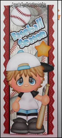 Premade Baseball Season Boy Border Paper Piecing for Scrapbook Pages by Babs… Baseball Scrapbook, Baby Scrapbook, Scrapbook Cards, Scrapbook Borders, Scrapbook Embellishments, Scrapbook Sketches, Borders For Paper, Paper Piecing Patterns, Coloring Book Pages