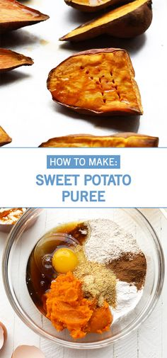 Whether you have a particular sweet or savory recipe in mind or are just looking for unique ingredients to add to your favorite dishes, this kitchen hack for Sweet Potato Puree can be used in so many ways! Potato Puree, Tasty Dishes, Food Hacks, Vegan Vegetarian, Sweet Potato, Veggies, Potatoes, Yummy Food, Homemade